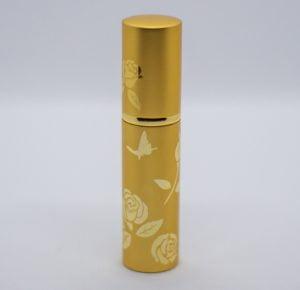 Rosenwasser Taschenzerstäuber gold